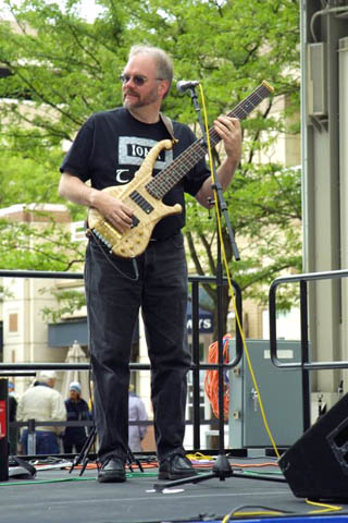 Chuck Lawhorn playing Bass.
